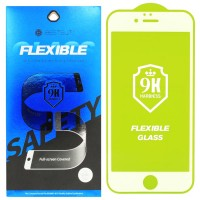 Гибкое защитное стекло BestSuit Flexible для Apple iPhone 6 6s WHITE Белое