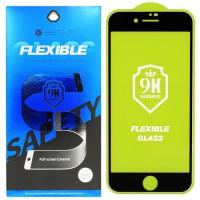 Гибкое защитное стекло BestSuit Flexible для Apple iPhone 7/8 BLACK Чёрное