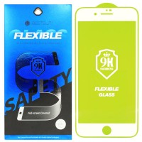 Гибкое защитное стекло BestSuit Flexible для Apple iPhone 7/8 Plus WHITE Белое